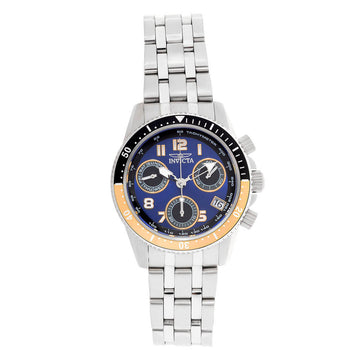 Invicta Women's Chronograph Watch - Pro Diver Steel Bracelet Blue Dial Dive | 24639