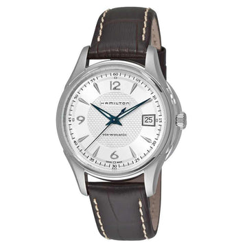 Hamilton H32455557 Men's Brown Strap Swiss Automatic Date JazzMaster V Watch