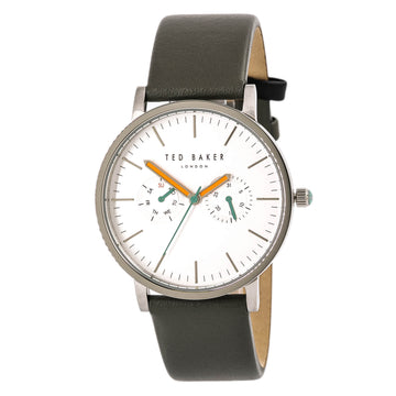 Ted Baker 10009291 London Men's Grey Strap Silver Dial Watch