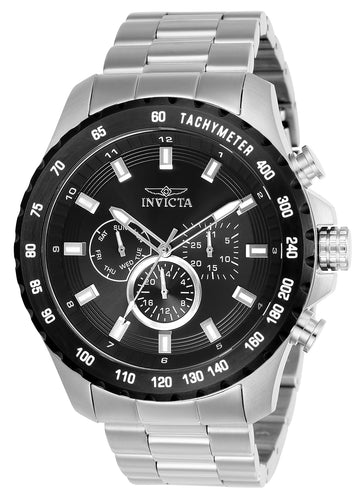 Invicta 24210 Men's Speedway Black Dial Stainless Steel Bracelet Watch