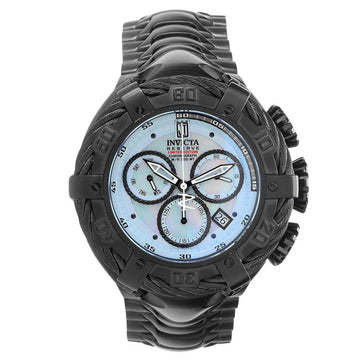 Invicta 23609 Men's Jason Taylor Reserve MOP & Oyster Dial Black IP Steel Chronograph Dive Watch