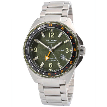 Filson 10000320 Journeyman Men's GMT Green Dial Dive Watch