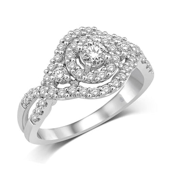 14K White Gold 3/4 Ct.Tw. Diamond Fashion Enagagement