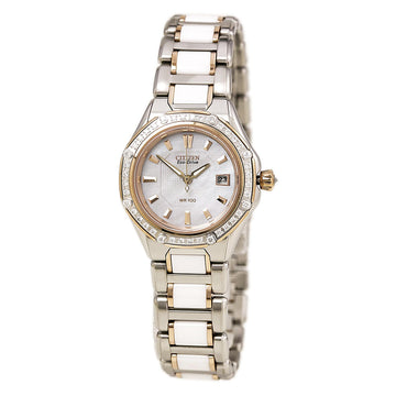 Citizen Women's Diamond Watch - Signature Octavia Eco Drive MOP Dial | EW2196-52D