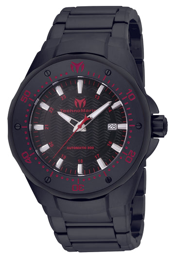 Technomarine Men's Automatic Watch - Sea Manta Black Dial Black IP Steel | TM-215097