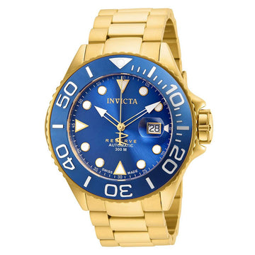Invicta 22858 Men's Grand Diver Reserve Blue Dial Yellow Gold Steel Bracelet Automatic Dive Watch
