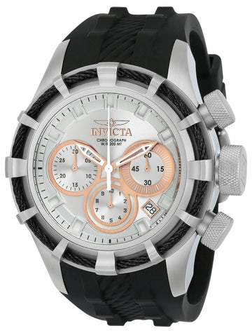 Invicta Men's Chronograph Watch - Bolt Sport Quartz Silver & Rose Gold Dial | 22148