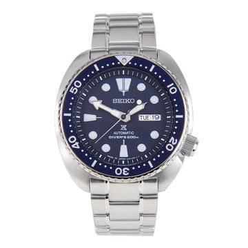 Seiko SRP773J1 Men's Prospex Turtle Automatic Blue Dial Stainless Steel Dive Watch