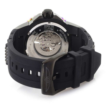 Invicta Men's Automatic Watch - Pro Diver Semi-Skeleton Dial Steel & Rubber Strap | 26321