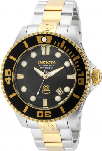 Invicta 19803 Men's Pro Diver Automatic Dive Black Dial Two Tone Steel Bracelet Watch