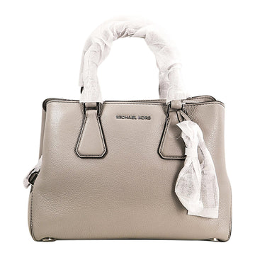 Michael Kors 30H5SCAS1L-081 Women's Camille Pearl Grey Pebbled Leather Small Satchel