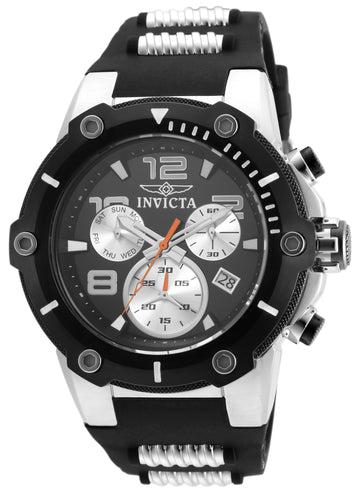 Invicta Men's Chronograph Watch - Speedway Black & Silver Dial | 22235