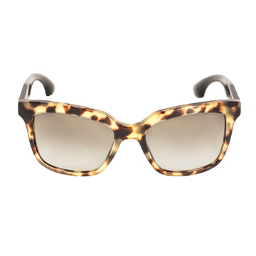 Miu Miu MU 09PS-7S04M1 54 Gradient Brown Lenses Women's Light Havana Acetate Frame Sunglasses
