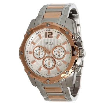 Guess U0165G2 Bold Chrono Men's Silver Dial Two Tone Watch
