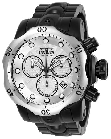 Invicta 23898 Men's Venom Silver Dial Black IP Stainless Steel Bracelet Chronograph Dive Watch