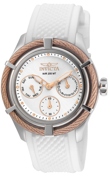 Invicta 24457 Women's Bolt Sport White Silicone Strap Silver Dial Dive Watch