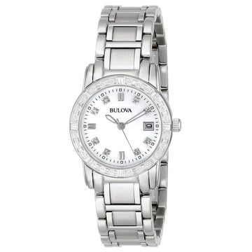 Bulova 96R105 Women's Marine Star Diamond Accented Bezel MOP Dial Quartz Sport Watch