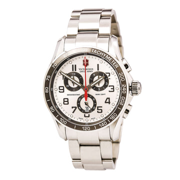 Swiss Army 241445 Men's Chrono Classic XLS Silver Dial Stainless Steel Bracelet Watch