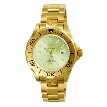 Invicta Men's Automatic Stainless Steel Watch - Grand Diver Gold Tone Dial | 3051