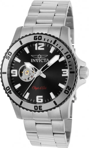 Invicta Men's Automatic Stainless Steel Watch - Objet D Art Black Dial | 22624