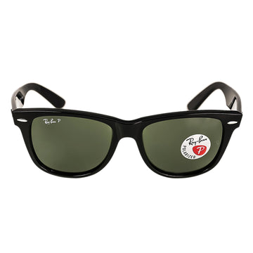 Ray-Ban RB 2140 901-58 54 Unisex Wayfarer Classic Crystal Green Lenses Black Acetate Frame Polarized Sunglasses