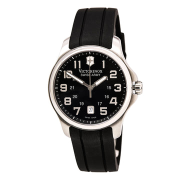 Swiss Army 241357 Men's Officer's Black Dial Black Rubber Strap Watch