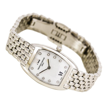 Frederique Constant FC-200MPWD1T26B Women's Art Deco MOP Dial Steel Bracelet Diamond Watch