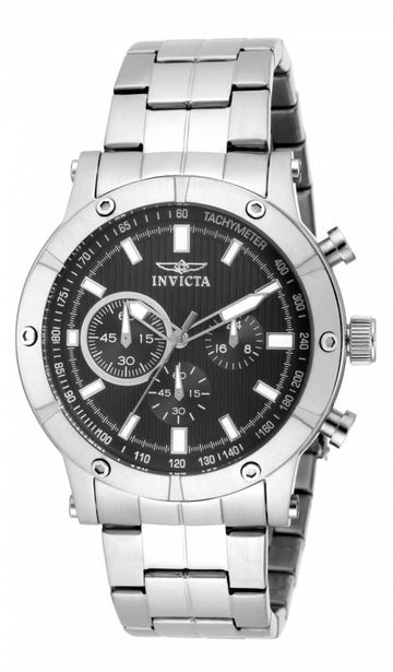 Invicta 18161 Men's Specialty Black Dial Stainless Steel Chronograph Watch