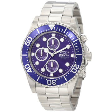 Invicta Men's Chronograph Stainless Steel Watch - Pro Diver Blue Dial Quartz | 1769