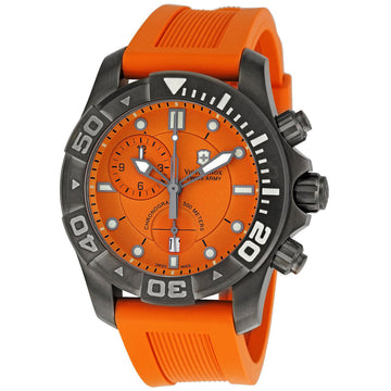 Swiss Army 241423 Men's Professional Dive Master Orange Dial Rubber Strap Chronograph Watch