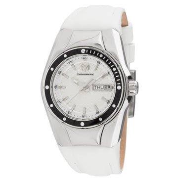 Technomarine Women's Strap Watch - Cruise Select White Leather | TM-115389