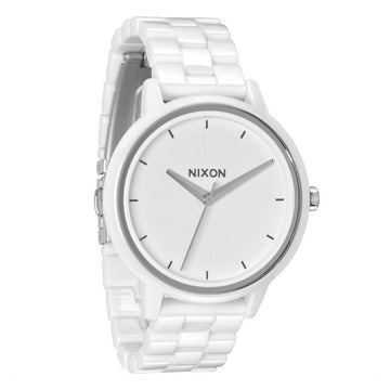 Nixon Women's Bracelet Watch - Ceramic Kensington White Dial | A261100