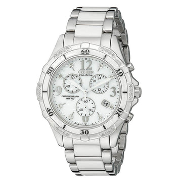 Citizen FB1230-50A Ceramic Women's White Dial Diamond Watch