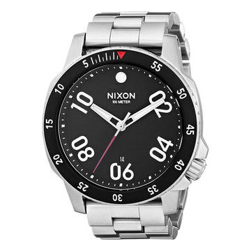 Nixon Men's Bracelet Watch - Ranger Quartz Black Dial Stainless Steel | A506000
