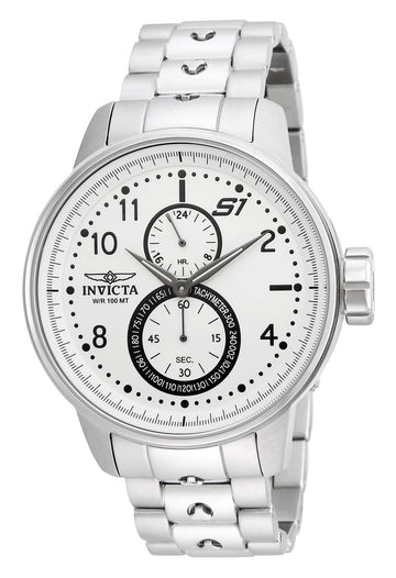 Invicta 23059 Men's S1 Rally Silver Dial Steel Bracelet GMT Watch