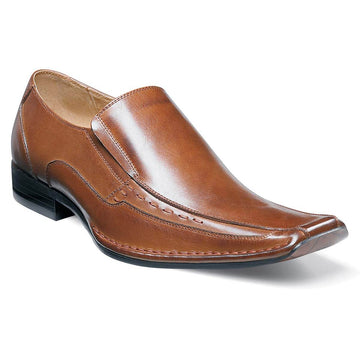 Stacy Adams Men's Templin Bicycle-Toe Slip-On, Cognac