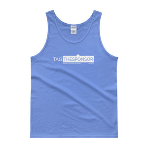TagTheSponsor Official Logo (White)  (Multiple Colors) Tank top