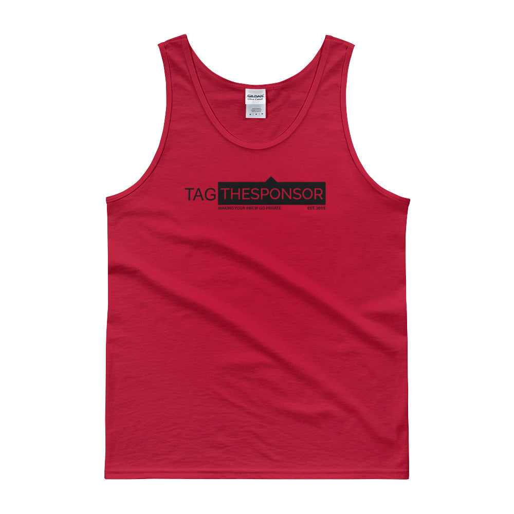 TagTheSponsor Official Logo (Black)  (Multiple Colors) Tank top