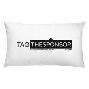 TagTheSponsor Official Logo (Black)   Pillow
