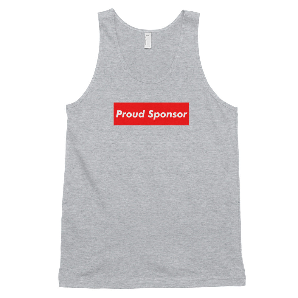 Proud Sponsor (Multiple Colors) Classic tank top (unisex)