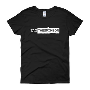 TagTheSponsor Official Logo (White)  (Multiple Colors) Women's short sleeve t-shirt