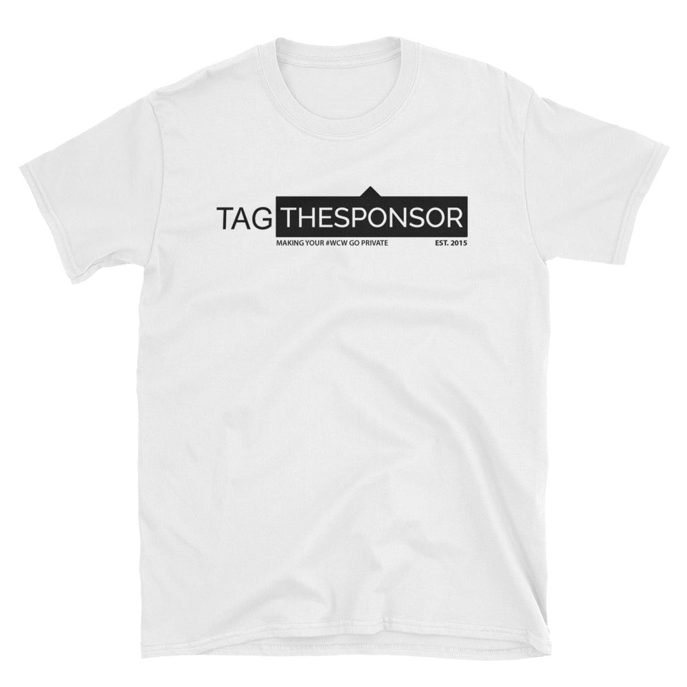 TagTheSponsor Official Logo (Black) T-Shirt