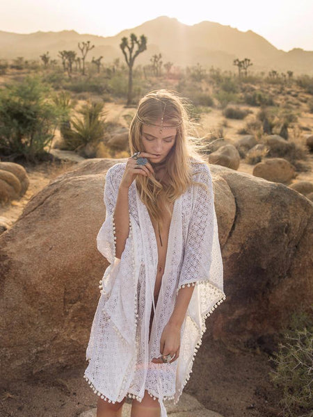Marrakesh Cotton Lace Kaftan