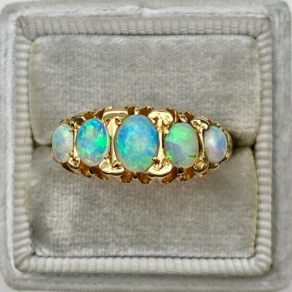 5-Stone Crystal Opal Ring