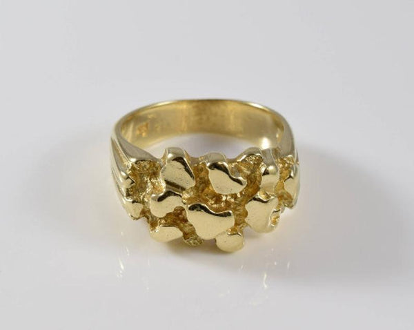 Vintage Gold Nugget Detail Ring