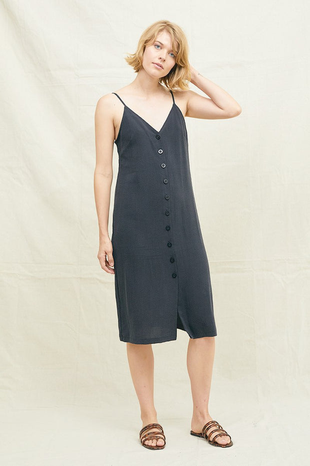 Tencel Seersucker Slip Dress