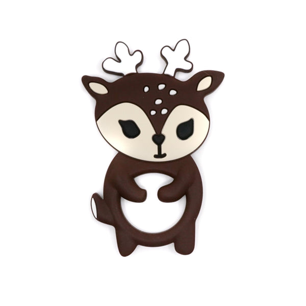 BPA free silicone Deer teether for teething babies