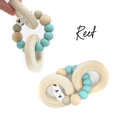 Personalized Wood and Silicone Teether - Reef
