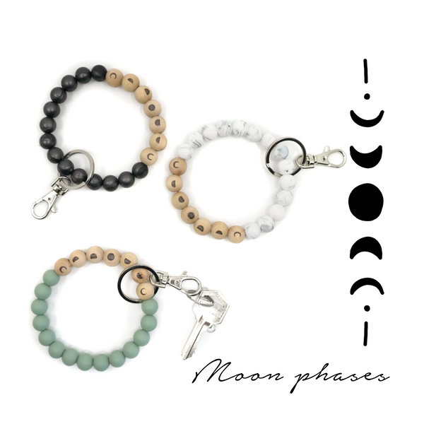 MOON PHASES Keychain Wristlet