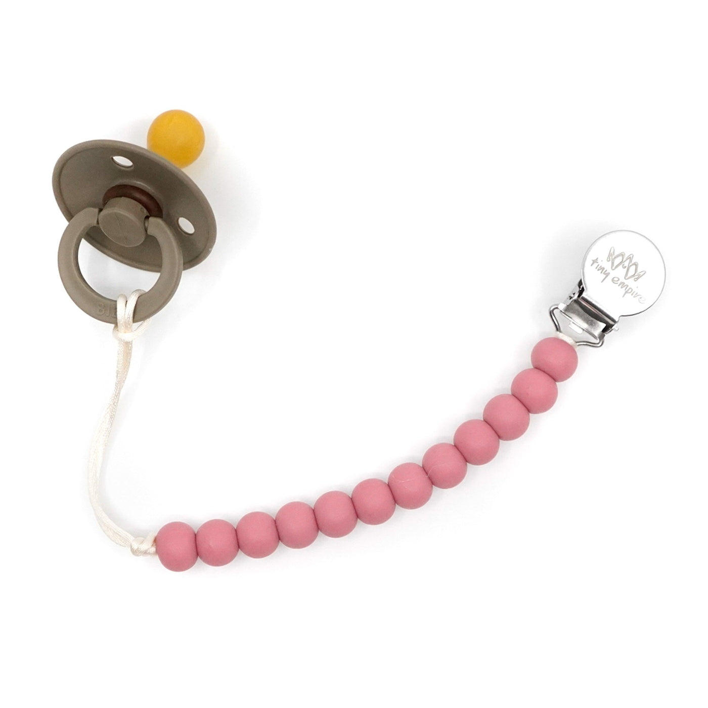 pink pacifier clip